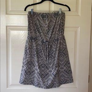 Aztec Print Strapless Dress